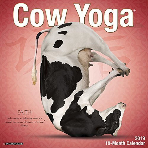 Cow Yoga 2019 Wall Calendar