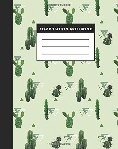 Composition Notebook: Vintage Cactus a Composition Notebook for Study: Size 8x10 Inches