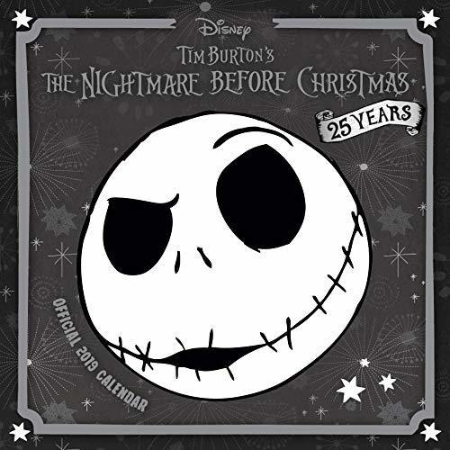 Nightmare Before Christmas Official 2019 Calendar - Square Wall Calendar Format