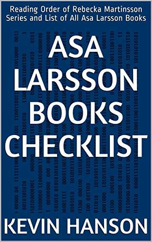 Asa Larsson Books Checklist: Reading Order of Rebecka Martinsson Series and List of All Asa Larsson Books