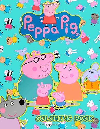 Peppa Pig Coloring Book: 59 Coloring Pages