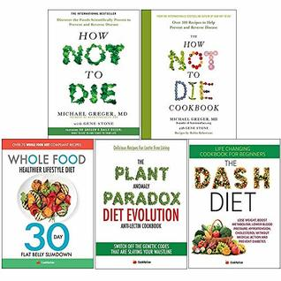 How not to die, cookbook [hardcover], whole food diet, plant anomaly paradox, dash diet 5 books collection set