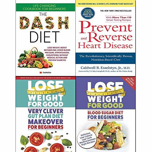 Very clever gut, prevent and reverse heart disease,dash diet and blood sugar diet 4 books collection set