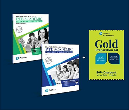 PTE Academic Practice Test Vol. 1 and 2 Combo with 50% Discount on Official Online Gold Test Preparation Kit