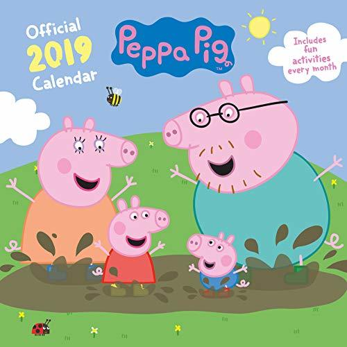Peppa Pig Official 2019 Calendar - Square Wall Calendar Format