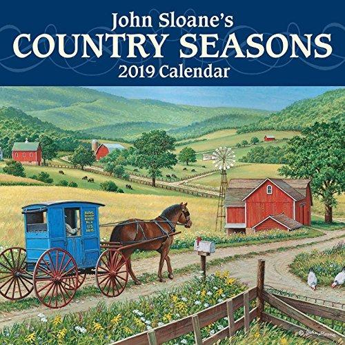 John Sloane's Country Seasons 2019 Mini Wall Calendar