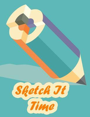 """Skech It Time - Girls & Boys Sketchbook: Skech It Time Blank Sketchbook for Girls, Boys & Young Adults, Large Drawing Paper with 120 Pages (8.5"""" X 11"""") White Paper, Sketch, Doodle and Draw, Add Some Fun Markers, Crayons, and Art Supplies and You Have the"""