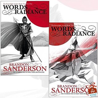 Stormlight Archive Book Two Brandon Sanderson Collection 2 Books Bundle With Gift Journal (Words of Radiance Part One, Words of Radiance Part Two)