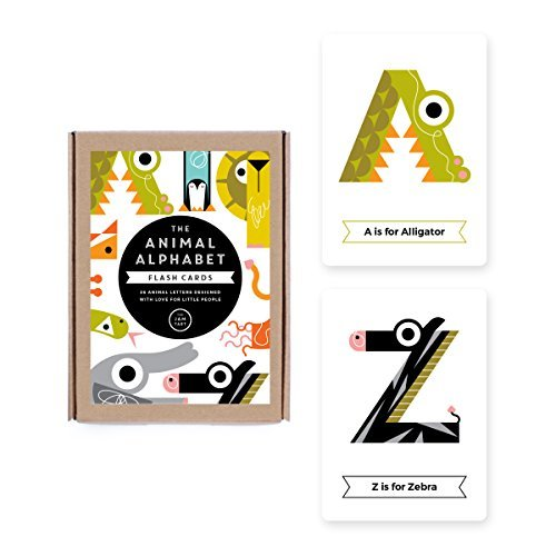 The Animal Alphabet Flash Cards: 26 Animal Letters Designed with Love for Little People