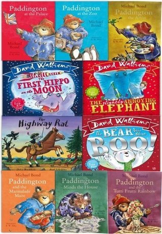 Children Reading Books and Bedtime Stories - 10 Books Collection Set From Best Selling Authors: David Walliams, Julia Donaldson and Michael Bond (Paddington Bear Series)