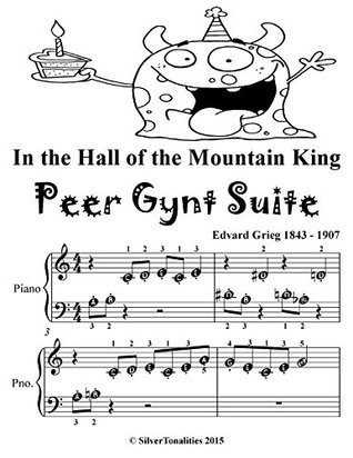 In the Hall of the Mountain King Peer Gynt Suite Beginner Piano Sheet Music Tadpole Edition