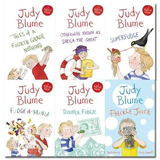 Judy Blume Collection 6 Books Bundle (Tales of a Fourth Grade Nothing, Otherwise Known as Sheila the Great, Superfudge, Fudge-a-mania, Double Fudge, Freckle Juice)