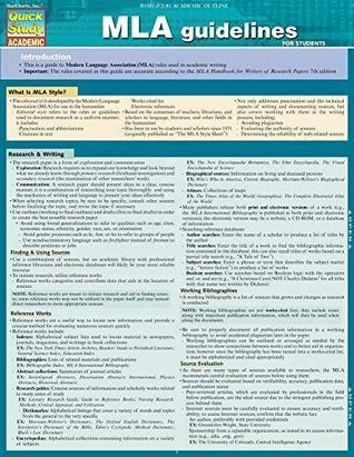 MLA Guidelines