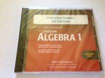 Holt McDougal Larson Algebra 1: Interactive Answers & Solutions CD-ROM