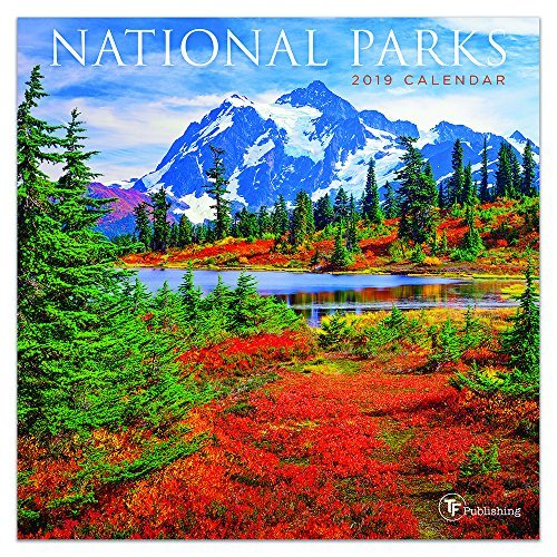 "Time Factory National Parks 7"" x 7"" January -December 2019 Mini Wall Calendar (19-2093)"