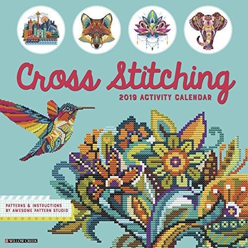Cross Stitching 2019 Wall Calendar
