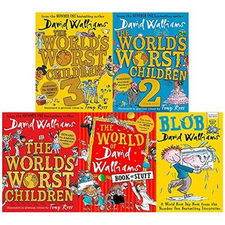 Worlds worst children 1, 2 and 3 [hardcover], david walliams book of stuff and blob 5 books collection set