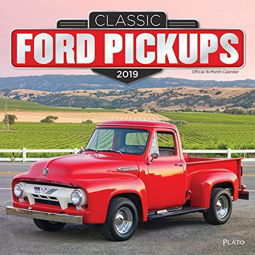 Classic Ford Pickups 2019 12 x 12 Inch Monthly Square Wall Calendar with Foil Stamped Cover by Plato, Motor Truck