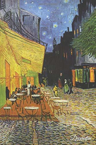 Decorative Notebook: Cafe Terrace at Night by Vincent Van Gogh Journal Pocket-sized Notebook Travel Diary