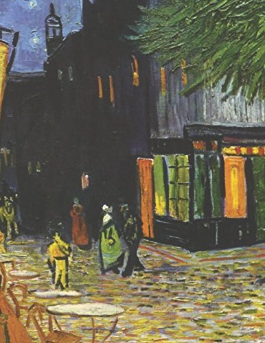 600 Page Sketchbook: Vincent Van Gogh Cafe Terrace at Night Art Journal for Doodling and Sketching