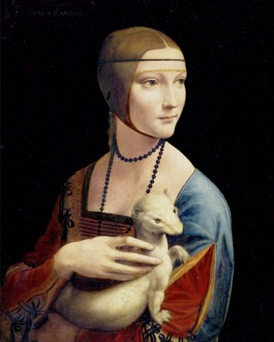 Daily Organizer and Planner: The Lady With The Ermine by Leonardo Da Vinci: 180 Day 8x10 Journal Notebook Day Planner