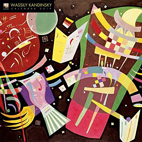 Wassily Kandinsky 2019 12 x 12 Inch Monthly Square Wall Calendar by Flame Tree, Russian Painter Wood Engraver Lithographer