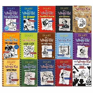 Diary of A Wimpy Kid Ultimate Complete 15 Books Set Collection (The Getaway (Hardback) The Meltdown (Hardback) Movie Diary