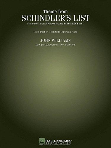 Schindler's List Theme 2 Violins Or Violin/Viola