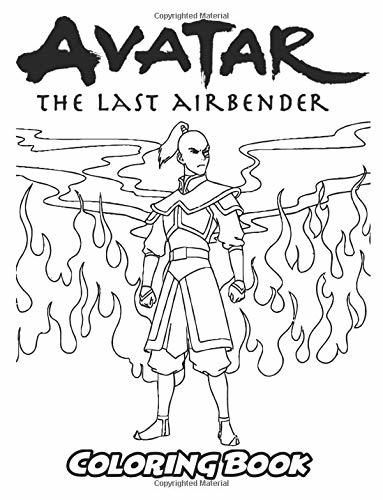 Avatar the Last Airbender Coloring Book: Coloring Book for Kids and Adults, Activity Book with Fun, Easy, and Relaxing Coloring Pages