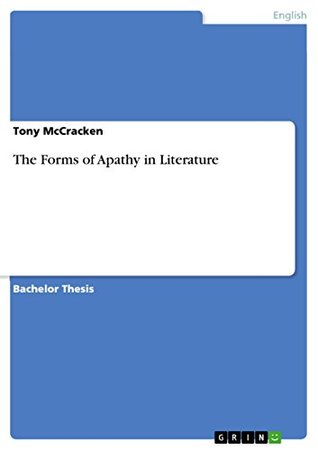 The Forms of Apathy in Literature
