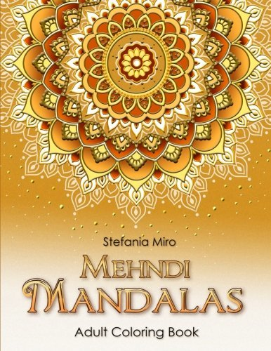 Mehndi Mandalas Adult Coloring Book White Background