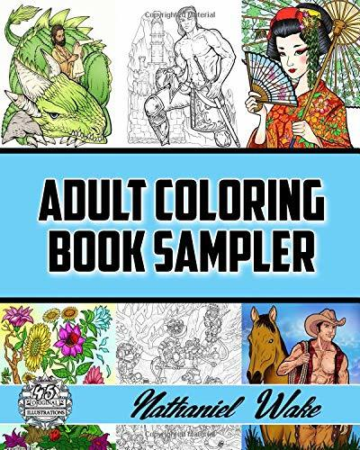 Adult Coloring Book Sampler: Coloring Books For Adults: Fan Favorites Huge Variety Selection