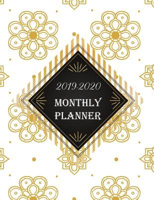 2019-2020 Monthly Planner: 24 Months Monthly Planner and 60 Pages of Weekly Planner, Agenda and Schedule Organizer with Journal Pages Elegance Design