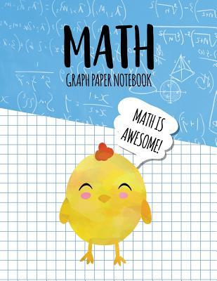 math graph paper notebook blank graph note book pages chick blue