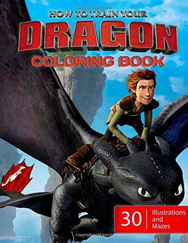 How to Train Your Dragon Coloring Book: 30 Illustrations with Maze