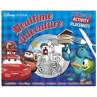 Disney Pixar Mealtime Adventure: Double-Sided Activity Placemats. Activities. Doodling. Colouring. Puzzles. Mazes. Spot the Difference: Double-sided difference