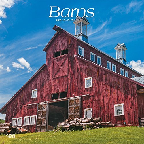 Barns 2019 12 x 12 Inch Monthly Square Wall Calendar, USA United States of America Scenic Rural Farm