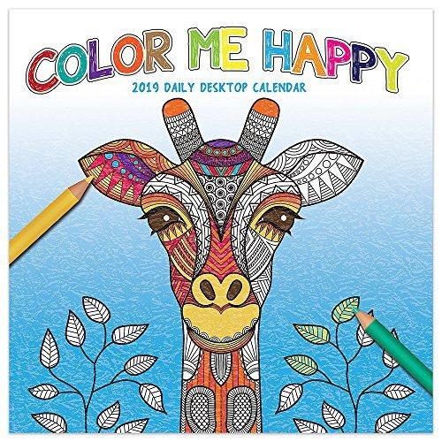 2019 Color Me Happy Daily Desk Calendar
