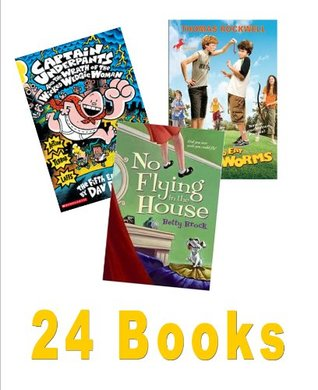 Classroom Library: Goosebumps, Night of the Living Dummy; Nasty, Stinky Sneakers; How to Eat Fried Worms; Captain Underpants; Runt; Box Car Children; the Family Under the Bridge (24 Books / 18 Titles)