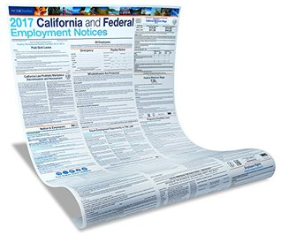 2017 CA and Federal Labor Law Poster - Laminated