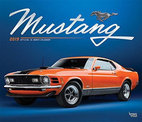 Mustang 2019 12 x 14 Inch Monthly Deluxe Wall Calendar with Foil Stamped Cover, Ford Motor Muscle Car