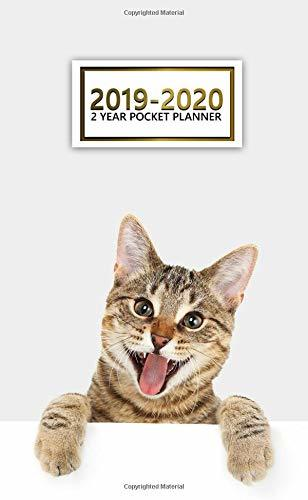 2019-2020 2 Year Pocket Planner: Two-Year Crazy Cat Planner with Phone Book, Password Log and Notebook. Cute Kitten 24 Month Calendar and Organizer.