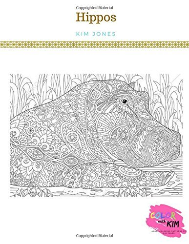 HIPPOS: A Hippos Coloring Book for Adults