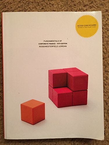 Fundamentals of Corporate Finance (NO ONLINE ACCESS CODE) 10th Edition Towson University Special Edition Ross Westerfield Jordan