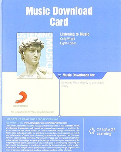 Download, 1 term (6 months) Printed Access Card for Wright's Listening to Music