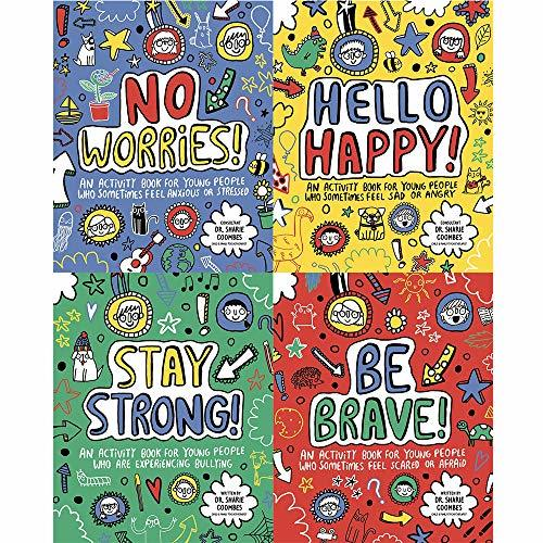 Mindful kids 4 books collection set (hello happy!,no worries!be brave,stay strong)