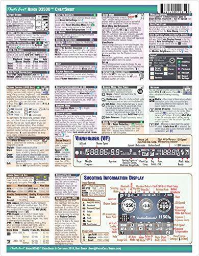 Nikon D3500 Digital SLR Camera CHEATSHEET