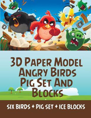 3d Paper Model Angry Birds Pig Set And Blocks Paper Cool Kids Toys