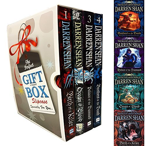 Darren Shan Collection Saga of Larten Crepsley Series 4 Books Bundle Gift Wrapped Slipcase Specially For You