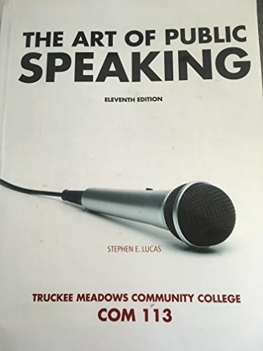 The Art of Public Speaking 11th Edition